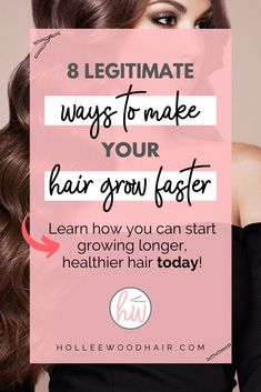 Does it seem like your hair takes forever to grow? These 8 actionable tips really make hair grow faster! The first thing. Growing Long Hair Faster, Hair Growing Tips, Longer Hair Faster, How To Grow Your Hair Faster, Grow Long Hair, How To Make Hair, Natural Hair Growth, Natural Hair Styles, Long Hair Styles