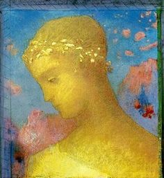 Hand Painted Abstract Wall Art Portrait Oil Painting on Canvas Beatrice by Odilon Redon Oil Reproductions High Quality Matisse, Odilon Redon, Post Impressionism, Illustration, Paul Gauguin, Art Moderne, Art Plastique, Les Oeuvres, Painting & Drawing
