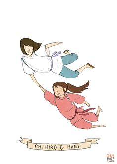 Chihiro and Haku by Noelle Stevenson.