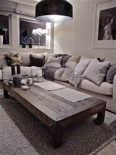 Love this coffee table. Looks so antique and like drift wood almost