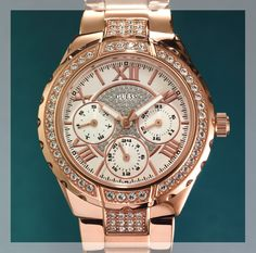Guess watch for Her - available at selected Sterns stores Rolex Watches, Watches For Men, Gift Of Time, Gold Watch, Gifts, Accessories, Beauty, Style, Fashion