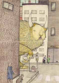 'Freak In The City' (Also published in Creaturemag for the 'Freak Of The Week' feature) - David Litchfield