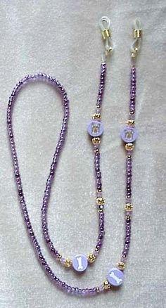 ! YORKIE YORKSHIRE TERRIER PURPLE EYEGLASS CHAIN !! Beaded Jewelry Designs, Diy Jewelry, Jewelry Bracelets, Glass Necklace, Beaded Necklace, Resin Jewelry Making, Eyeglass Holder, Eyeglasses, Glass Holders