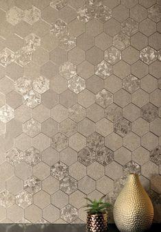 Honeycomb Wallpaper, Geo Wallpaper, Wallpaper Please, Bathroom Wallpaper, Metallic Wallpaper, Wallpaper Display, Feature Wall Living Room, Best Bedroom Colors, Boys Bedroom Decor