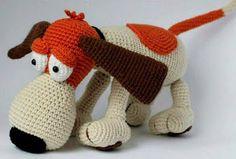 Thread Crochet, Diy Crochet, Crochet Dolls, Crochet Hats, Half Double Crochet, Single Crochet, Cute Pugs, Hound Dog, Free Pattern