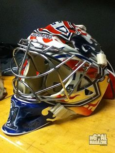 Carey Price will debut a new mask Saturday night against the Vancouver Canucks, and the Montreal Canadiens goaltender was kind enough to share it with InGoal Magazine after the game-day skate. Goalie Pads, Goalie Gear, Hockey Goalie, Montreal Canadiens, Mtl Canadiens, Nhl Logos, Vancouver Canucks, Buckets, Helmets