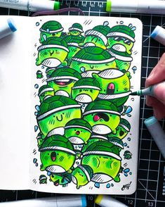 Behind The Scenes By art_quil Cute Doodle Art, Doodle Art Designs, Doodle Art Drawing, Doodle Sketch, Cool Art Drawings, Kawaii Drawings, Cute Art, Copic Marker Drawings, Doddle Art