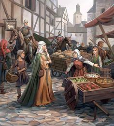 Medieval+Market+by+Minnhagen.deviantart.com+on+@deviantART