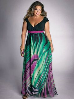 IGIGI Plus Size Summer Rainforest Paradise Maxi Dress  (1)