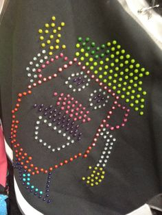 Lite Brite Shirt with Tulip Puff Paint be cool with the glow in the dark paint