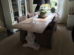 Landelijke keuken tafel