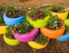 Eco idea. So find items in trash with substance, clean them up and plant in them…place them around town.
