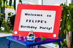 Idea de mesa de dulces cumpleaños Toy Story