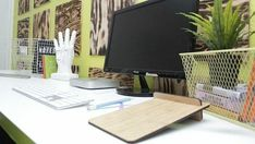 Here's how you can easily make a large work space by combining two less expensive table tops into one!