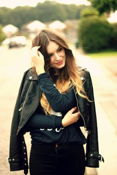 Zoe Karssen Leather Jacket by What Olivia Did, via Flickr