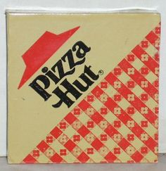 1985 Pizza Hut Vintage with the red gingham! Sweet memories of buffets visited during my youth when I could put away a whole pizza and then some...