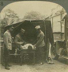 French Field Hospital Locating Bullet with An x Ray Machine WW1 Stereoview | eBay