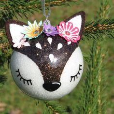 the vintage umbrella: sheep ornament Christmas Ornaments To Make, Etsy Christmas, Christmas Crafts For Kids To Make, Christmas Tree Decorations, Handmade Christmas, Christmas Fun, Holiday Crafts, Navidad Diy, Unicorn Crafts