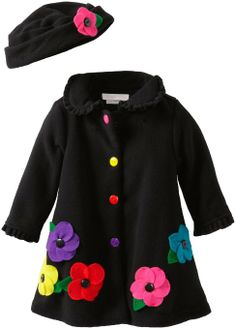 Amazon.com: Bonnie Baby Baby-Girls Infant Fleece Coat and Hat Set: Clothing