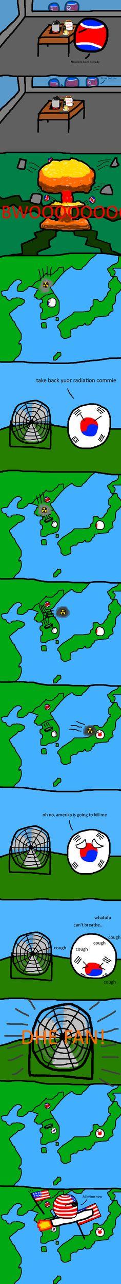 Nuclear leakage   Polandballs Countryballs