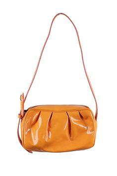 FENDI Orange Patent Leather Small CAMERA B BAG SHOULDER BAG Handbag   From a collection of rare vintage shoulder bags at…