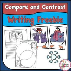 Freebie! Brush up on those comparing and contrasting writing skills with this fun little freebie! Students compare and contrast the two penguins by using a Venn Diagram or by just writing about it.