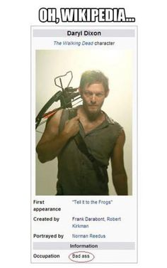 Daryl on Wikipedia