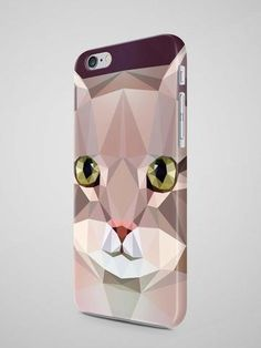 Geometric Cat iPhone X Case Samsung Galaxy Note 8 Iphone 6 Covers, 5s Cases, Iphone 7 Plus Cases, Samsung Cases, Phone Cases, Galaxy Note 3, Samsung Galaxy Note 8, Cat Lover Gifts, Cat Gifts