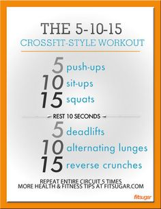 5-10-15 crossfit style workout