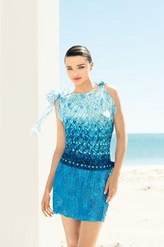 Miranda Kerr in Collette Dinnigan for David Jones store Australia