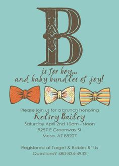 A is for ADORABLE baby shower invite!