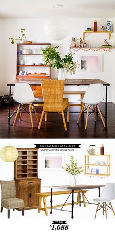 An eclectic dining room for $1688 by @lindseyboyer for Copy Cat Chic