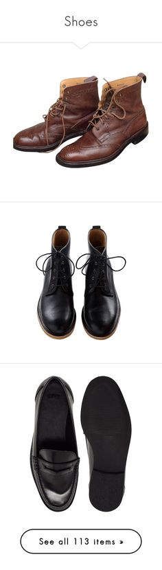 """Shoes"" by kibitzer on Polyvore featuring men's fashion, men's shoes, men's boots, shoes, brown, men shoes boots, mens brown boots, mens brown leather shoes, mens leather shoes and mens shoes"