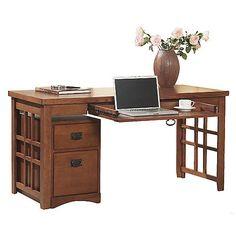 Mission Pasadena laptop desk at HOM Furniture ($450) ❤ liked on Polyvore featuring home, furniture, desks, mission furniture, mission style furniture, mission style desks and mission desk
