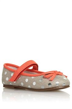 Girls Shoes Online - 3 months to 6 years - Next Linen Spot Pumps