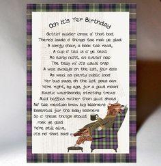 Varnish highlight, matt board, 127x178mm Blank Inside personalisation is not available on this card Birthday Words, Birthday Quotes, 50th Birthday, Happy Birthday, Scottish Poems, Scottish Sayings, Gaelic Quotes, Pinterest Birthday Cards, Highland Cow Art