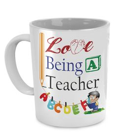 - Description - Mug Details - Shipping Details I Love Being a Teacher 11oz mug Dishwasher and microwave safe Black mugs are a slightly softer black than it appears in the preview where the design is p