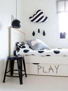 Sypialnia czarno biała