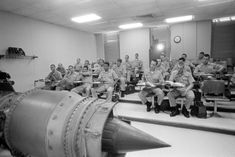 Aviation officer candidates learn about the fundamentals of the jet engine prior to primary flight training - PICRYL Public Domain Image