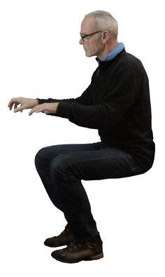 Guy working sitting