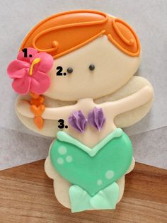 How to Make Mermaid Cookies with a Snowman Cutter