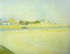 The Channel at Gravelines, Grand Fort-Philippe 1888 by Georges Seurat