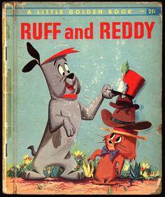RUFF and READY Hanna Barbera TV Cartoon Illustrated & many more @ephemarama Little Golden Book