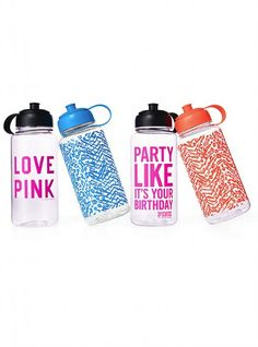 Can it be? Even more stylish water bottles by PINK they even have animal prints!