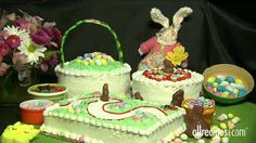 Easy Ideas for Decorating Easter Cakes. Click to view video