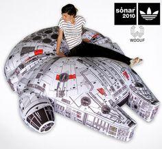 Giant Millennium Falcon Pillow
