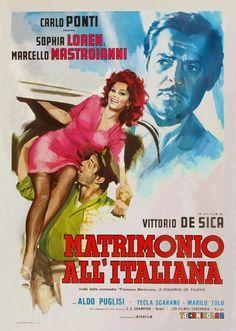 """""""Matrimonio all'italiana"""" (1964) Director: Vittorio De Sica. Cast: Sophia Loren, Marcello Mastroianni"""