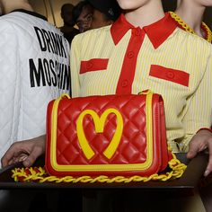 Totally smitten by this Moschino's McDonald's bag at Milan Fashion Week AW14  #bag #Fashion