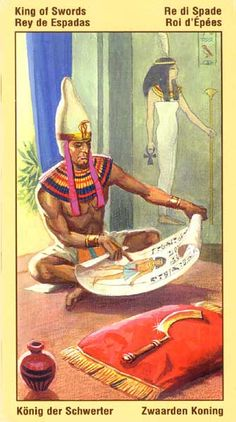 Ramses Tarot of Eternity - King of Swords