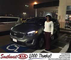 https://flic.kr/p/ENg1uT | Happy Anniversary to Christi on your #Kia #Sorento from Clinton Miller at Southwest Kia Mesquite! | deliverymaxx.com/DealerReviews.aspx?DealerCode=VNDX